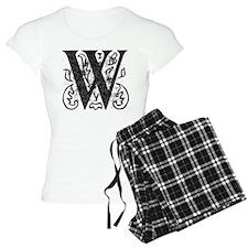 Fancy Monogram W Pajamas