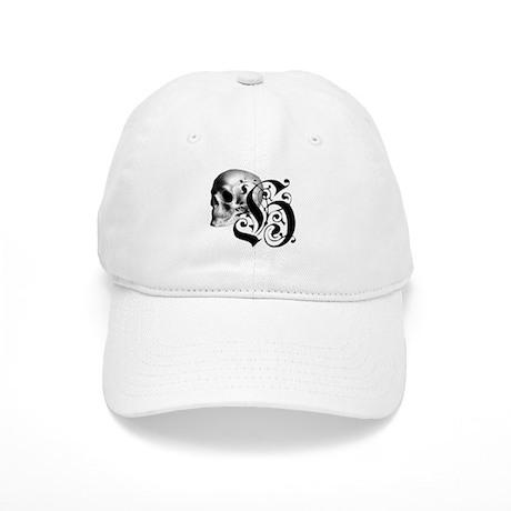 Gothic Skull Initial H Cap