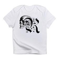 Gothic Skull Initial R Infant T-Shirt