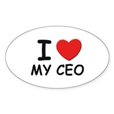 I love ceos Oval Decal