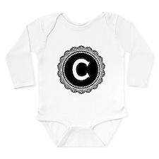 Monogram Medallion C Long Sleeve Infant Bodysuit