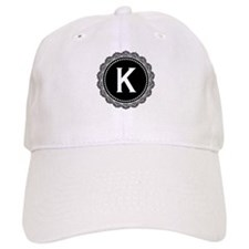 Monogram Medallion K Baseball Cap