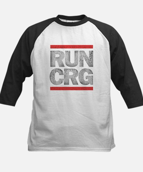 RUN CRG (cracked text) Kids Baseball Jersey