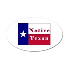Native Texan Lone Star Flag Wall Decal
