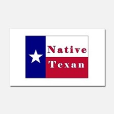 Native Texan Lone Star Flag Car Magnet 20 x 12