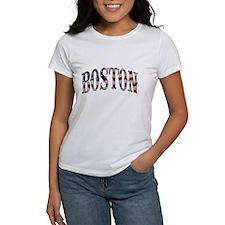 BOSTON - US Flag Design T-Shirt