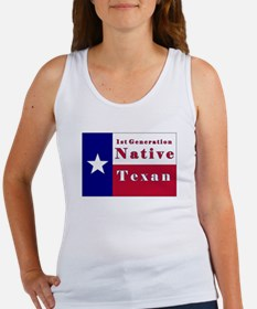 1st Generation Native Texan Flag Women's Tank Top