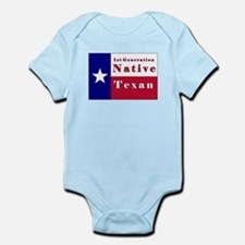 1st Generation Native Texan Flag Infant Bodysuit