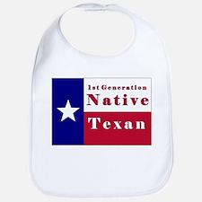 1st Generation Native Texan Flag Bib