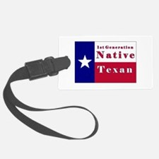 1st Generation Native Texan Flag Luggage Tag