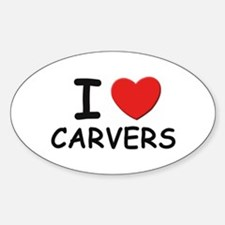 I love carvers Oval Decal