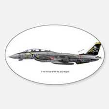 F-14 Tomcat VF-84 the Jolly R Sticker (Rectangular