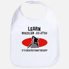 Brazilian Jiu Jitsu silhouette designs Bib