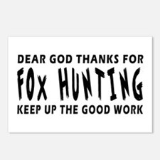 Dear God Thanks For Fox Hunting Postcards (Package