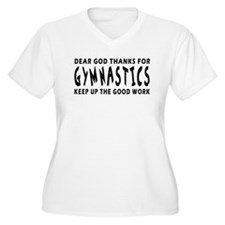 Dear God Thanks For Gymnastics T-Shirt