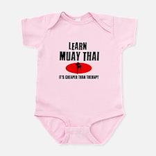 Muay Thai silhouette designs Infant Bodysuit