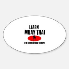 Muay Thai silhouette designs Decal
