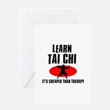 Tai Chi silhouette designs Greeting Card
