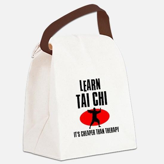 Tai Chi silhouette designs Canvas Lunch Bag