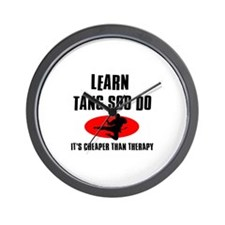 Tang Soo Do silhouette designs Wall Clock