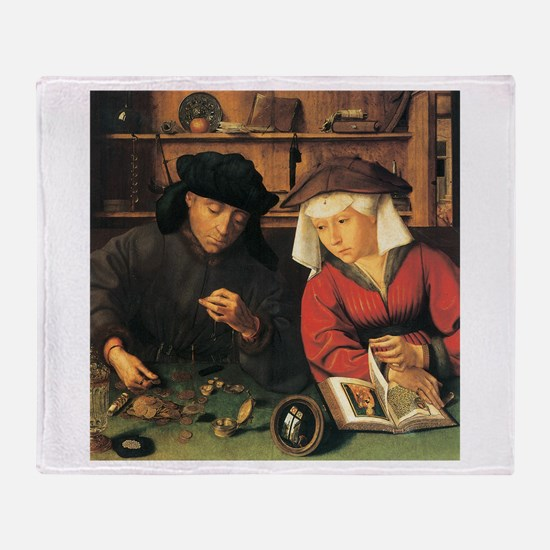 Quentin Matsys The Moneylender and his Wife Throw