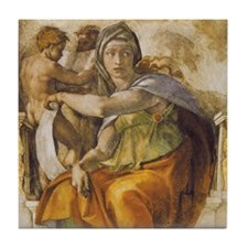 Michelangelo Delphic Sibyl Tile Coaster