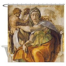 Michelangelo Delphic Sibyl Shower Curtain