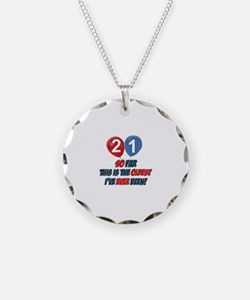Gifts for the individual turning 21 Necklace