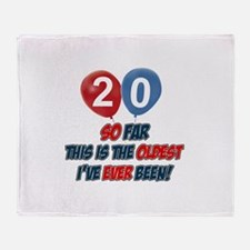 Gifts for the individual turning 20 Throw Blanket