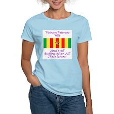 Vietnam Veterans Wife Women's Pink T-Shirt