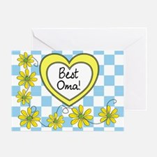 Best Oma Yellow Greeting Card