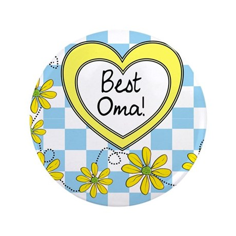 """Best Oma Yellow 3.5"""" Button"""