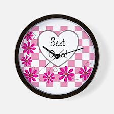 Best Oma Pink daisies Wall Clock
