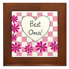 Best Oma Pink daisies Framed Tile