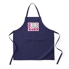 Best Oma Pink daisies Apron (dark)