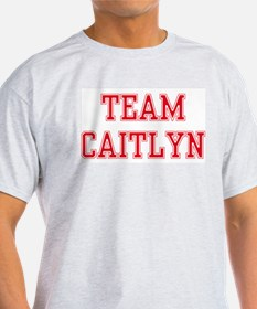 TEAM CAITLYN  Ash Grey T-Shirt