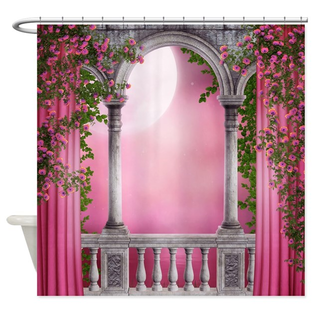 Spring light balcony shower curtain by showercurtainshop for Other names for balcony
