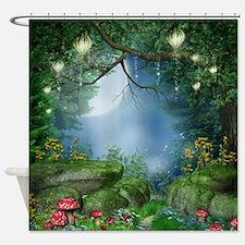 Enchanted Summer Night Shower Curtain