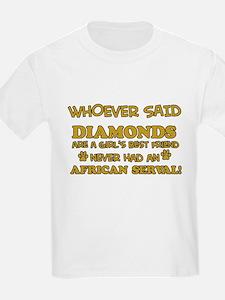 African Serval cat vector designs T-Shirt