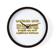 American Bobtail cat vector designs Wall Clock