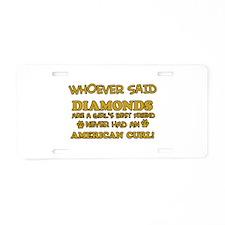 American Curl cat vector designs Aluminum License