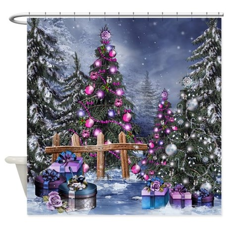 Christmas Landscape Shower Curtain By Showercurtainshop