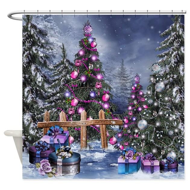 Christmas Landscape Shower Curtain By Showercurtainshop