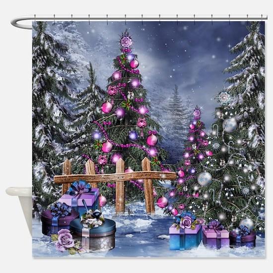 Christmas Landscape Shower Curtain