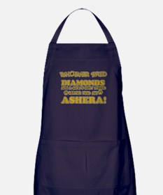 Ashera cat vector designs Apron (dark)