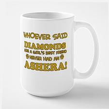 Ashera cat vector designs Large Mug