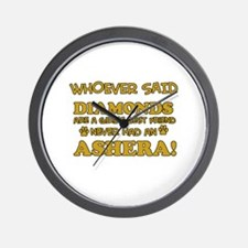 Ashera cat vector designs Wall Clock
