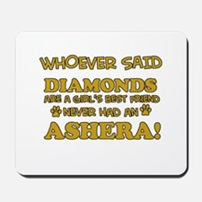 Ashera cat vector designs Mousepad