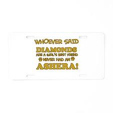 Ashera cat vector designs Aluminum License Plate