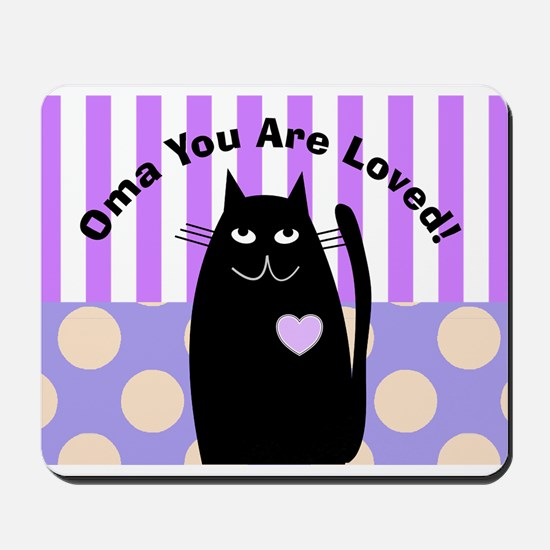 Oma you are loved 1 Mousepad